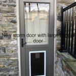 Storm Door With Large Door